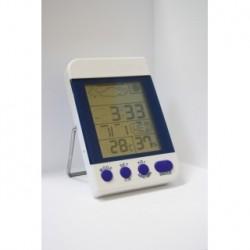 Термометр-гигрометр с часами, цифровой