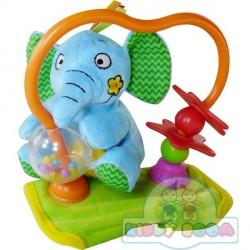 Игрушка на коляску Крутящийся слоненок BIBA TOYS 499BR