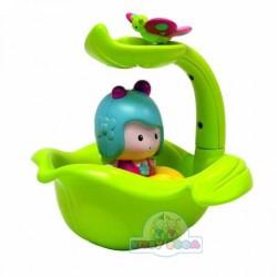 Интеракт.игрушка-МИМИ И ВОЛШЕБНАЯ ЛОДКА-ЛИСТОК (для игры в ванной)