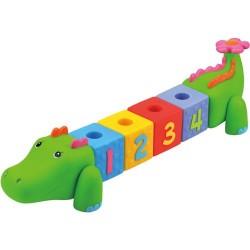 Развивающая игрушка Ks Kids КРОКОБЛОКО Крокодил резиновый (10611)