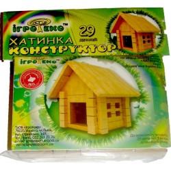 Детский деревянный конструктор – Домик Игротеко