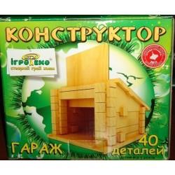 Детский деревянный конструктор Гараж (40 деталей)