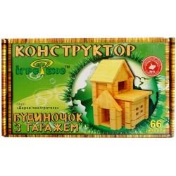 Деревянный конструктор Домик с гаражом