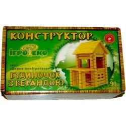 Деревянный конструктор Домик с верандой