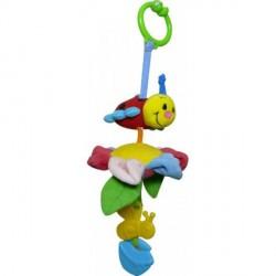 Вибрирующая игрушка-подвеска «Божья коровка - путешественница на цветке» от компании BIBA TOYS