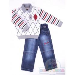 Комплект свитер, рубашка,джинсы Bombili 2929