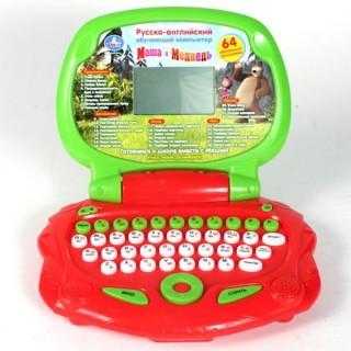 Детский ноутбук Маша и Медведь (рус-англ) Умка (PL-876)