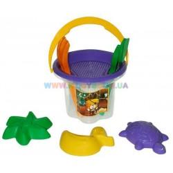 Набор для песка Цветочек 7 элементов Wader 39043