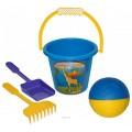 Набор для песка Забава 5 элементов с мячом Wader 39050