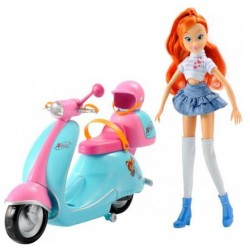 Кукла Winx Блум и ее скутер