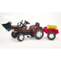 Велотрактор Farm Power Max красный с прицепом и ковшом Falk 1021M