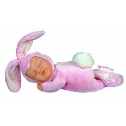 Детки-кролики cпящие розовые 23см (579105-AG) Anne Geddes