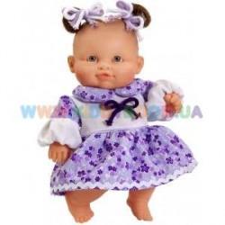 Младенец девочка европейка, в платье  (01124)