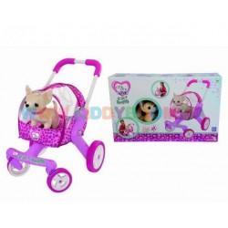 Собачка Чихуахуа в коляске со съемной люлькой и подушкой Chi Chi Love 5894065