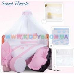 Постельный комплект Sweet Hearts 7 эл. Tuttolina