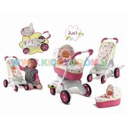 Коляска для кукол Baby Nurse 2 в 1 Smoby 512919