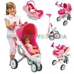 Коляска для кукол трехколесная Maxi-Cosi  3 в 1 Smoby 550389
