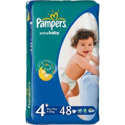 Подгузники Pampers Active Baby 4+ maxi Plus (9-20 кг) 48 шт