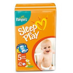 Подгузники Pampers Sleep & Play 5 junior (11-25 кг) 42 шт