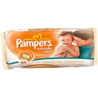 Салфетки Pampers влажные Naturally clean 64 шт.