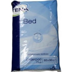 Гигиенические пеленки Tena Bed Plus 60х90 5шт.