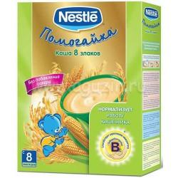 Каша безмолочная Nestle 8 злаков с бифидобактериями (с 8 мес.) 250 гр.