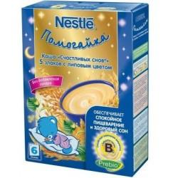 Каша безмолочная Nestle 5 злаков с липовым цветом (с 6 мес.) 200 гр.