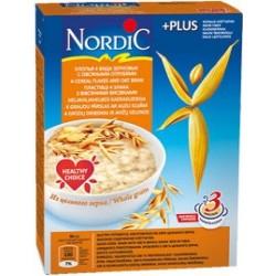 Каша безмолочная Nordic хлопья 4-х зерновых с овсян. отрубями (с 12 мес.) 600 гр.