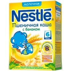 Каша молочная Nestle пшеничная с бананом (с 6 меся) 250 гр.