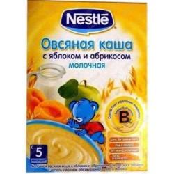 Каша молочная Nestle овсяная с ябл. и абрикосами с бифидо (с 5 мес.) 250 гр.