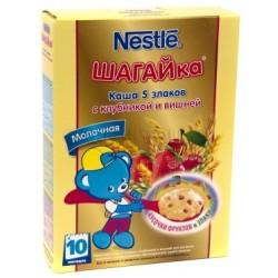 Каша молочная Nestle 5 злаков с клубникой и вишней (с 10 мес.) 200 гр.