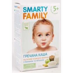 Каша молочная Smarty Family  гречневая с бананом и яблоком (с 5 мес.) 225 гр.
