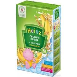 Каша молочная Heinz овсяная с бананом (с 5 мес.) 250 гр.