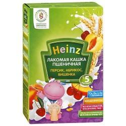 Каша молочная Heinz пшеничная абрикос,персик,вишня (с 5 мес.) 200 гр.