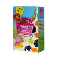 Каша молочная Heinz рисовая (курага, чернослив) (с 5 мес.) 200 гр.