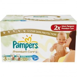 Подгузники Pampers  Premium Care 3 Midi (4-9 кг) 120 шт