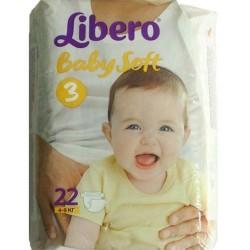 Подгузники Libero Baby Soft 3 (4-9 кг) 22 шт.