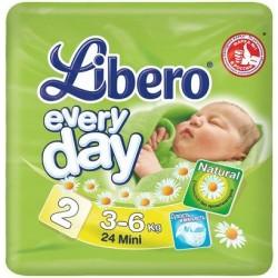 Подгузники Libero Everyday 2 (3-6 кг) 24 шт.