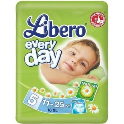 Подгузники Libero Everyday 5 (11-25 кг) 16 шт.
