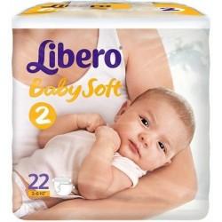 Подгузники Libero Baby Soft  2 (3-6 кг) 22 шт.