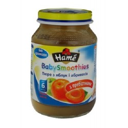 Пюре Hamе Яблоко и абрикос с пребиотиком (с 6 мес.) 190 гр.