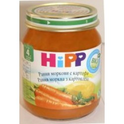 Пюре Нipp Молодая морковь с картофелем (с 4 мес.) 125 гр.