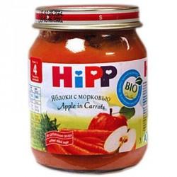 Пюре Hipp Яблоко с морковью (с 4 мес.) 125 гр.