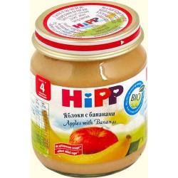 Пюре Hipp Яблоки с бананами (с 4 мес.) 125 гр.
