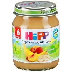 Пюре Hipp Персики с бананами (с 6 мес) 125 гр.