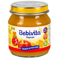 Пюре Bebivita Персик (с 5 мес.) 100 гр.