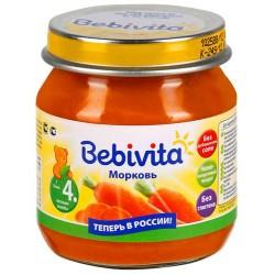 Пюре Bebivita Морковь (с 4 мес.) 100 гр.