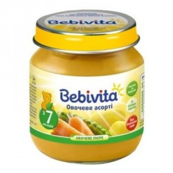 Пюре Bebivita  овощное ассорти (c 7 мес.) 100 гр.