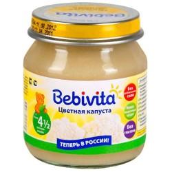 Пюре Bebivita Цветная капуста (с 4,5 мес.) 100 гр.