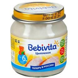 Пюре Bebivita Цыпленок (с 6 мес.) 100 гр.